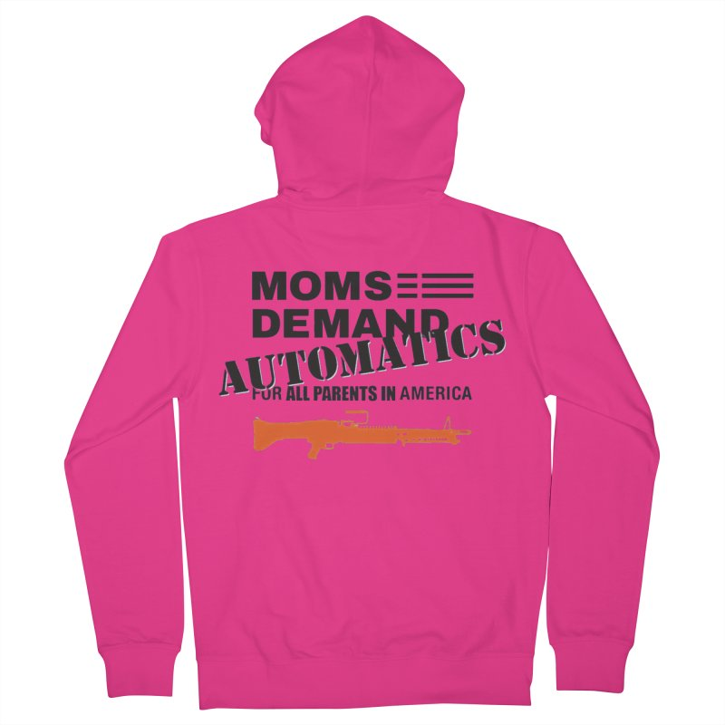 Moms Demand Automatics - Black Logo, Orange LMG Men's French Terry Zip-Up Hoody by Rally For Our Rights Shop