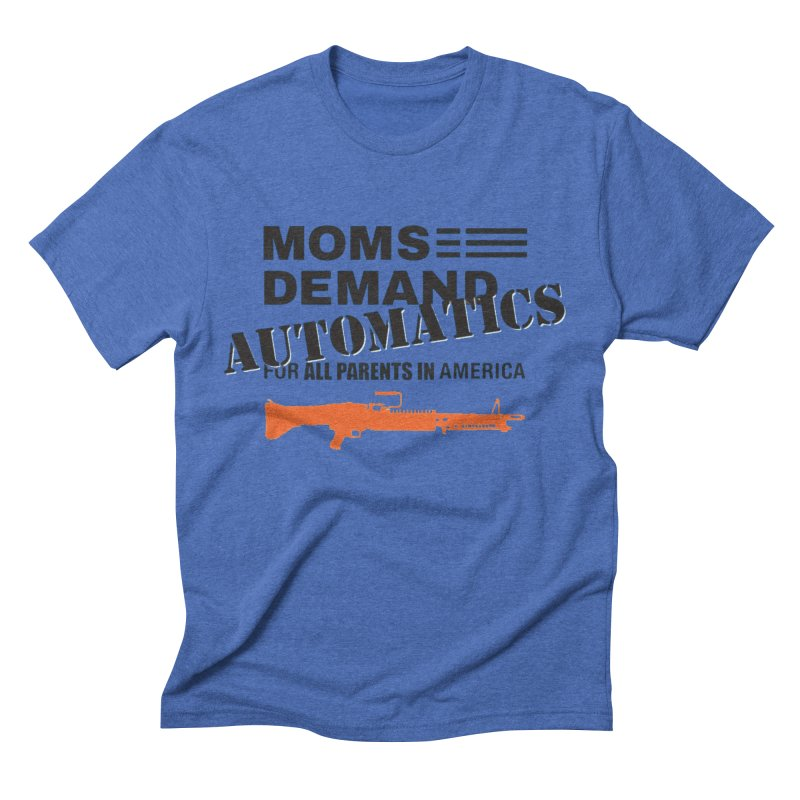 Moms Demand Automatics - Black Logo, Orange LMG Men's Triblend T-Shirt by Rally For Our Rights Shop