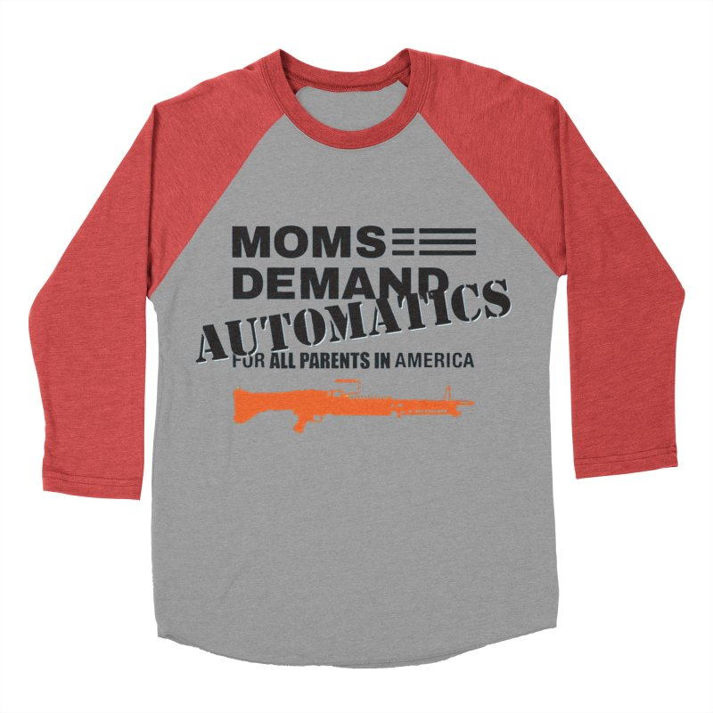 Moms Demand Automatics - Black Logo, Orange LMG Women's Baseball Triblend Longsleeve T-Shirt by Rally For Our Rights Shop
