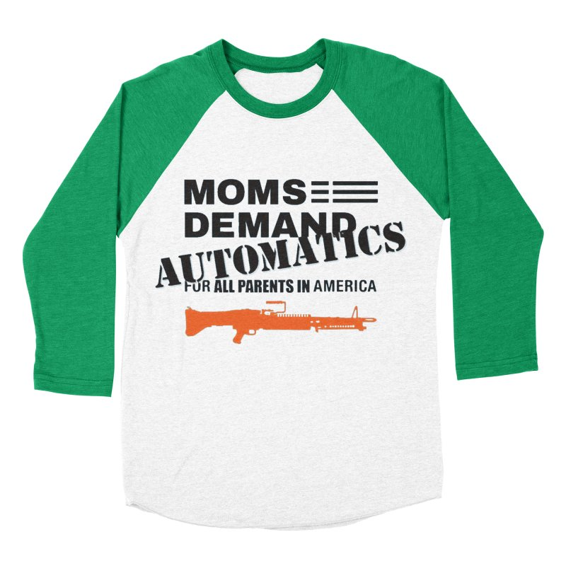 Moms Demand Automatics - Black Logo, Orange LMG Men's Baseball Triblend Longsleeve T-Shirt by Rally For Our Rights Shop