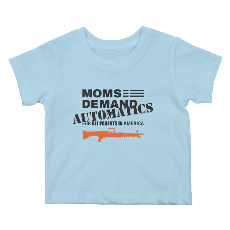 Moms Demand Automatics - Black Logo, Orange LMG Kids Baby T-Shirt by Rally For Our Rights Shop