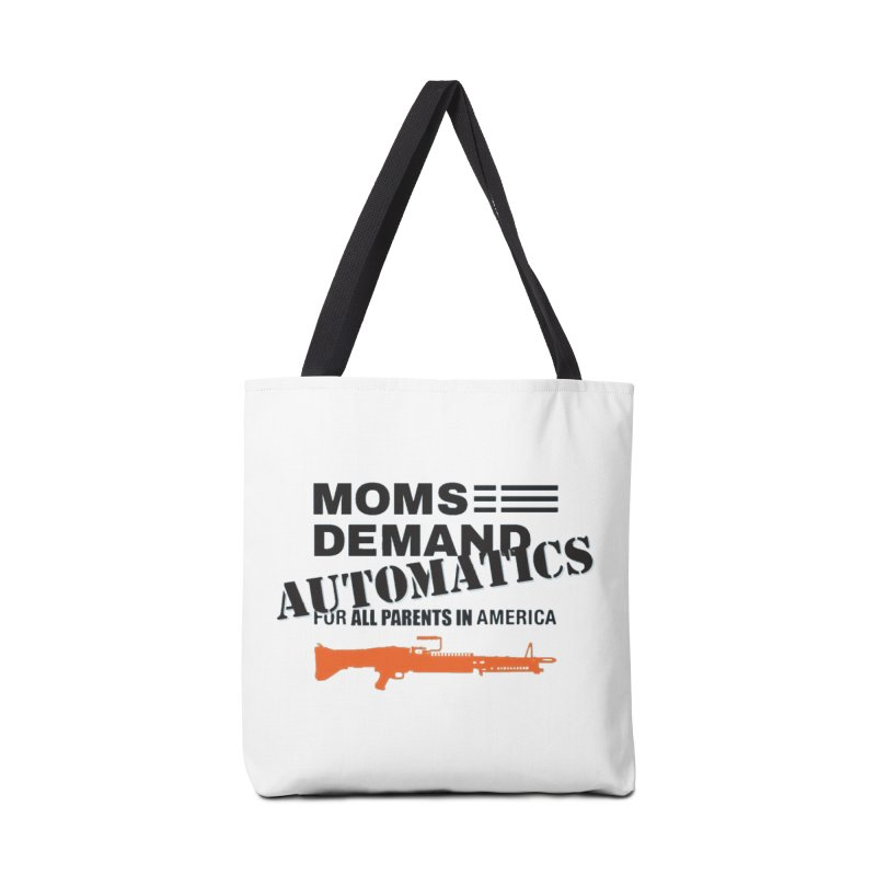 Moms Demand Automatics - Black Logo, Orange LMG Accessories Bag by Rally For Our Rights Shop