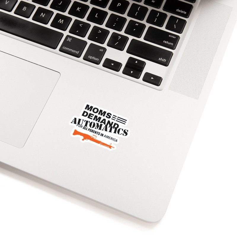 Moms Demand Automatics - Black Logo, Orange LMG Accessories Sticker by Rally For Our Rights Shop