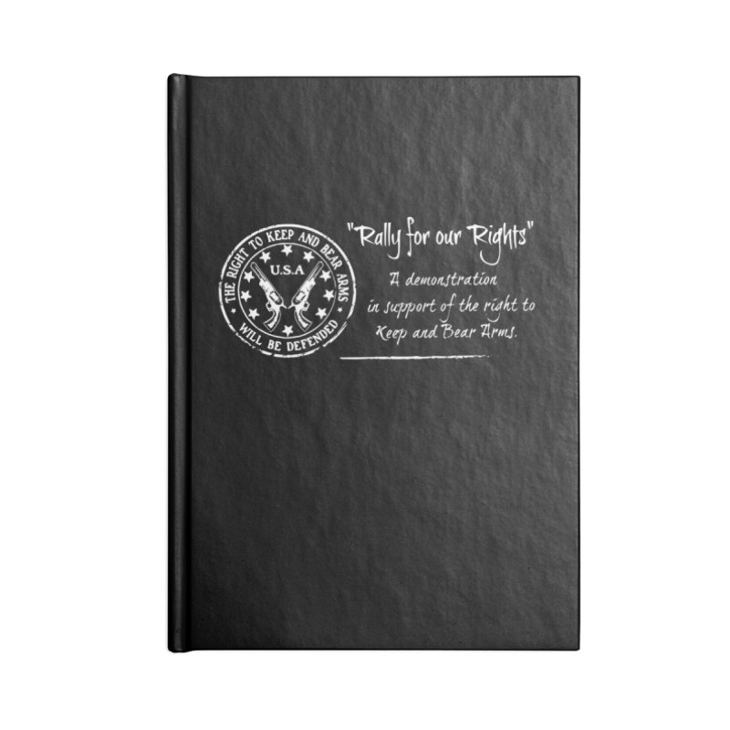 Rally for our Rights - Classic White Logo Accessories Notebook by Rally For Our Rights Shop