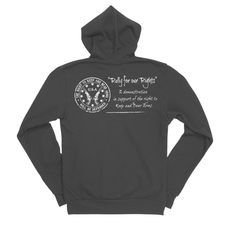 Rally for our Rights - Classic White Logo Women's Sponge Fleece Zip-Up Hoody by Rally For Our Rights Shop
