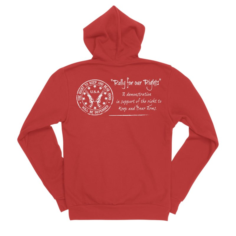 Rally for our Rights - Classic White Logo Men's Sponge Fleece Zip-Up Hoody by Rally For Our Rights Shop