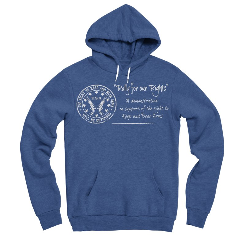 Rally for our Rights - Classic White Logo Women's Sponge Fleece Pullover Hoody by Rally For Our Rights Shop