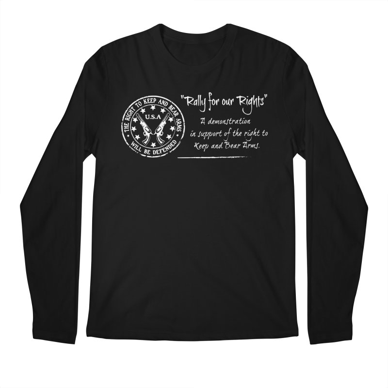 Rally for our Rights - Classic White Logo Men's Regular Longsleeve T-Shirt by Rally For Our Rights Shop