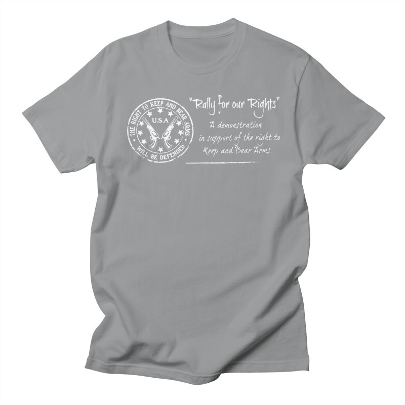 Rally for our Rights - Classic White Logo Men's Regular T-Shirt by Rally For Our Rights Shop
