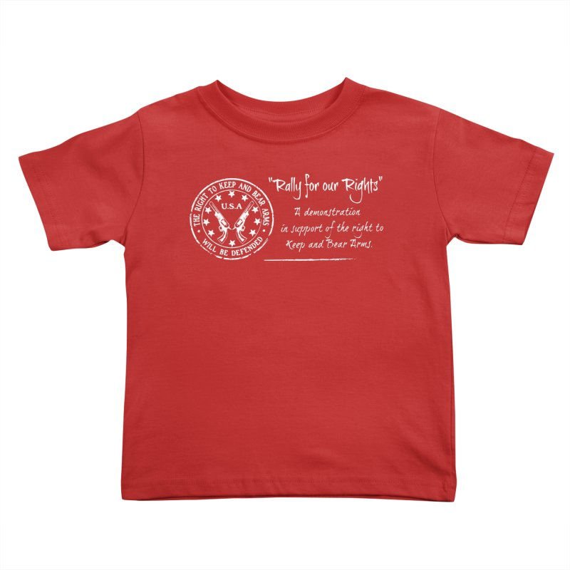 Rally for our Rights - Classic White Logo Kids Toddler T-Shirt by Rally For Our Rights Shop