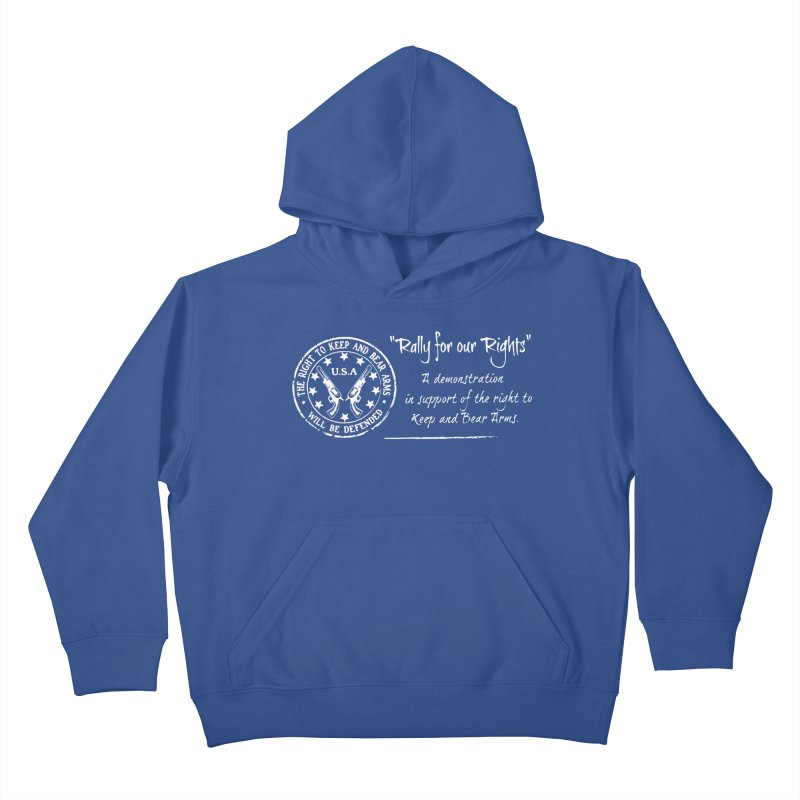 Rally for our Rights - Classic White Logo Kids Pullover Hoody by Rally For Our Rights Shop