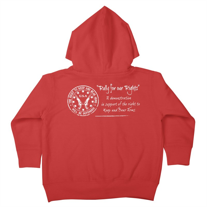 Rally for our Rights - Classic White Logo Kids Toddler Zip-Up Hoody by Rally For Our Rights Shop