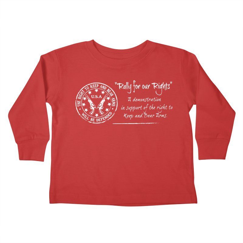Rally for our Rights - Classic White Logo Kids Toddler Longsleeve T-Shirt by Rally For Our Rights Shop