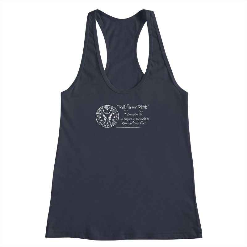 Rally for our Rights - Classic White Logo Women's Racerback Tank by Rally For Our Rights Shop