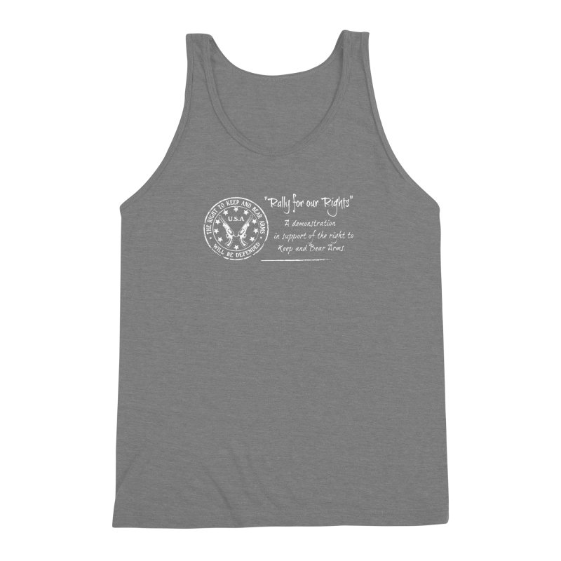 Rally for our Rights - Classic White Logo Men's Triblend Tank by Rally For Our Rights Shop