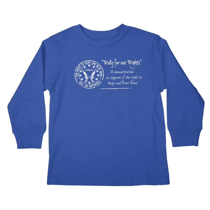 Rally for our Rights - Classic White Logo Kids Longsleeve T-Shirt by Rally For Our Rights Shop
