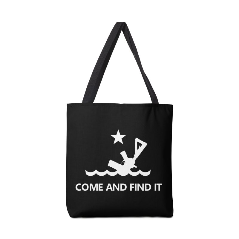 Come and Find It - White Logo Accessories Bag by Rally For Our Rights Shop