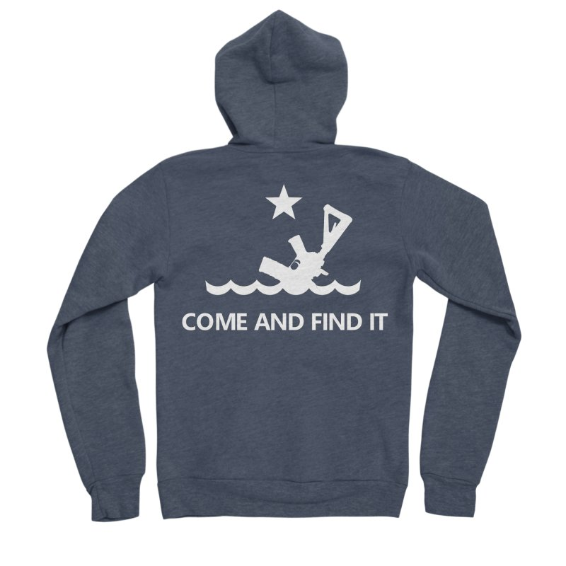 Come and Find It - White Logo Men's Sponge Fleece Zip-Up Hoody by Rally For Our Rights Shop