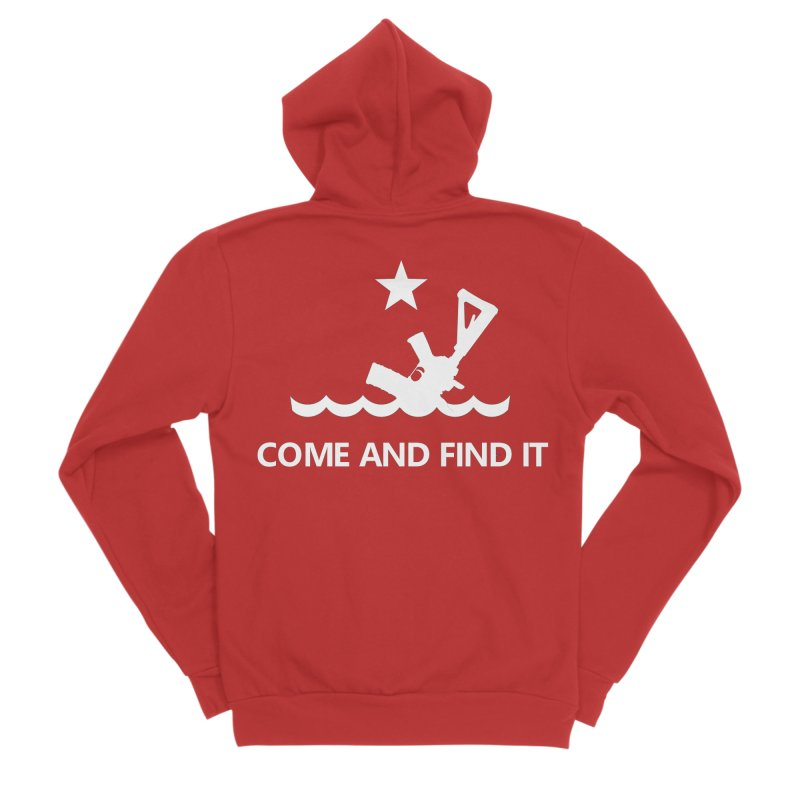 Come and Find It - White Logo Women's Sponge Fleece Zip-Up Hoody by Rally For Our Rights Shop
