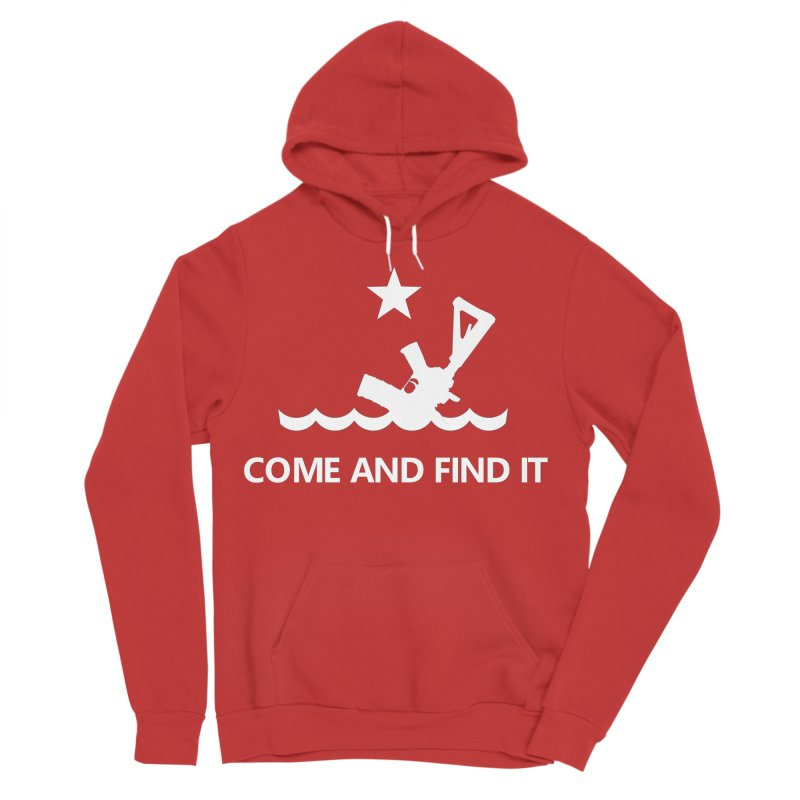 Come and Find It - White Logo Women's Sponge Fleece Pullover Hoody by Rally For Our Rights Shop