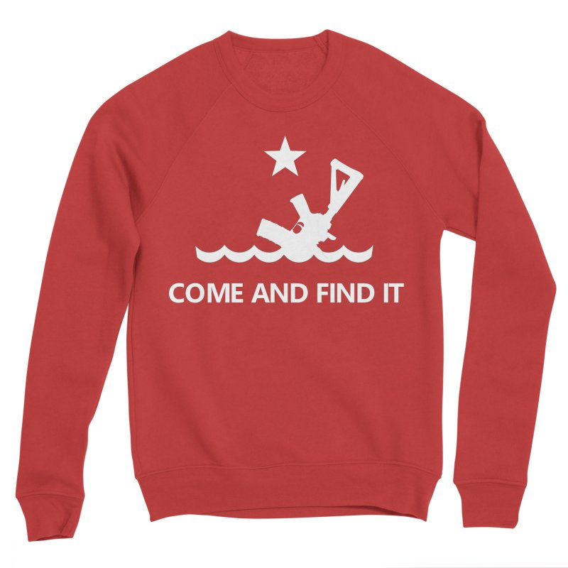 Come and Find It - White Logo Men's Sponge Fleece Sweatshirt by Rally For Our Rights Shop