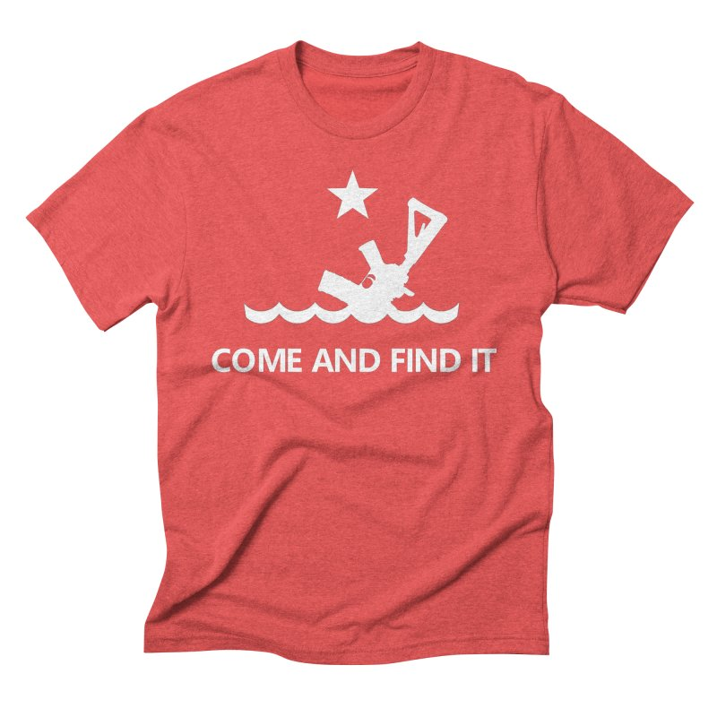 Come and Find It - White Logo Men's Triblend T-Shirt by Rally For Our Rights Shop