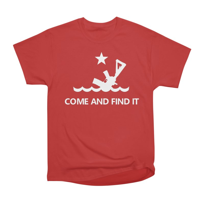 Come and Find It - White Logo Men's Heavyweight T-Shirt by Rally For Our Rights Shop
