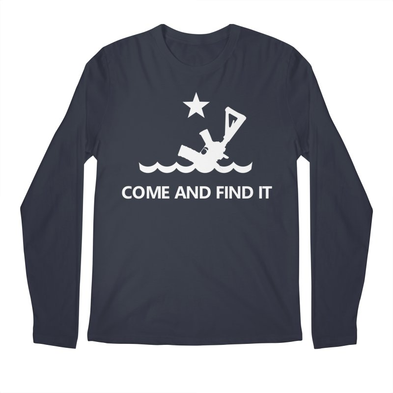 Come and Find It - White Logo Men's Regular Longsleeve T-Shirt by Rally For Our Rights Shop