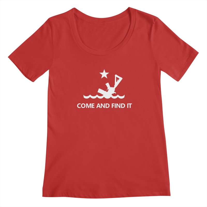 Come and Find It - White Logo Women's Regular Scoop Neck by Rally For Our Rights Shop