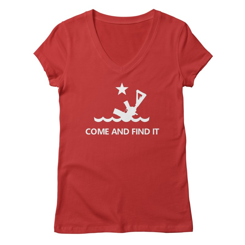 Come and Find It - White Logo Women's Regular V-Neck by Rally For Our Rights Shop