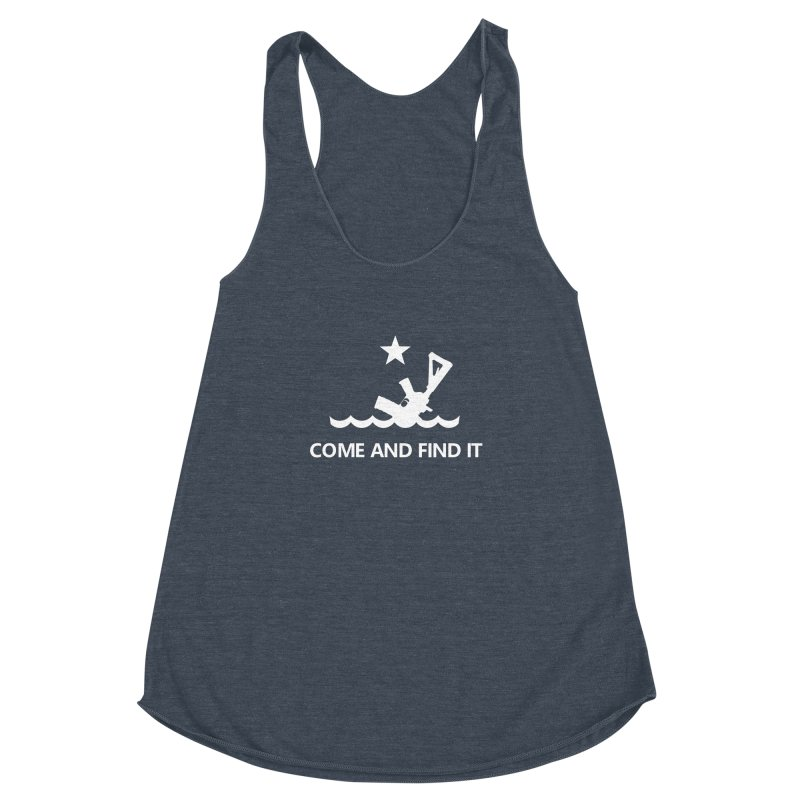 Come and Find It - White Logo Women's Racerback Triblend Tank by Rally For Our Rights Shop