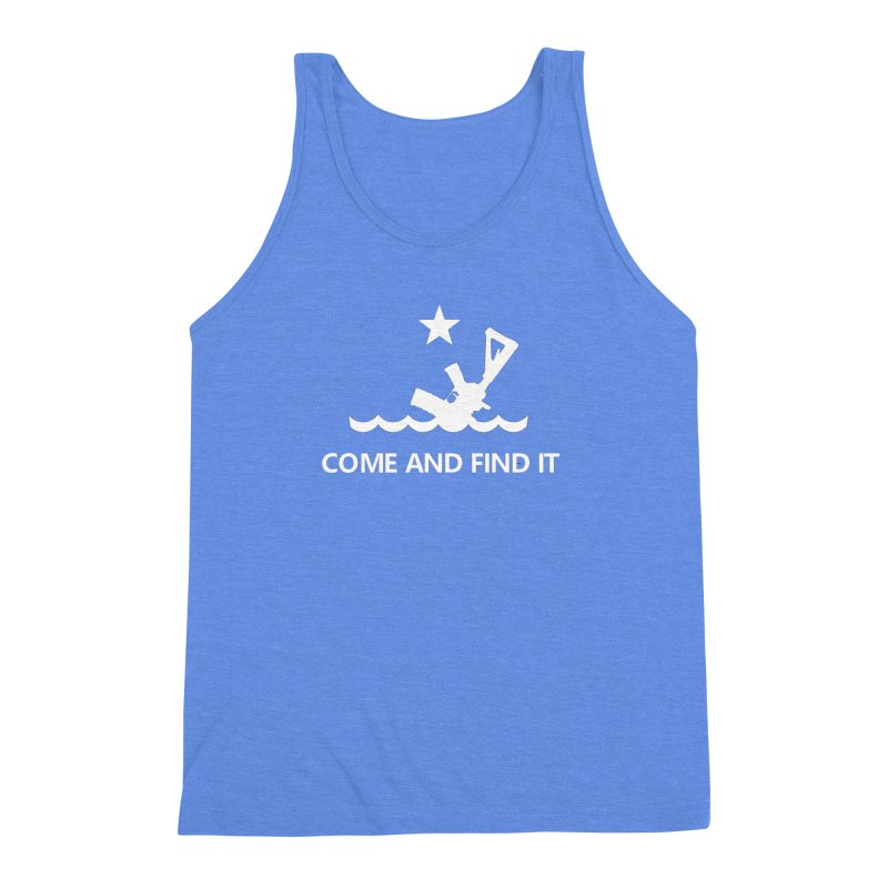 Come and Find It - White Logo Men's Triblend Tank by Rally For Our Rights Shop