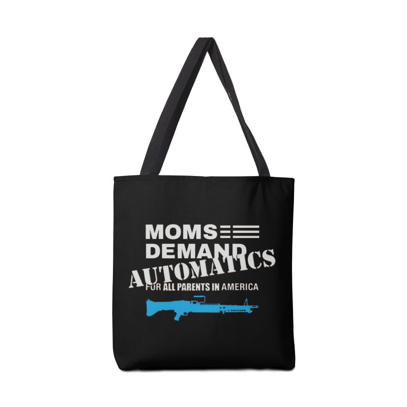 Moms Demand Automatics - White Logo, Blue LMG Accessories Bag by Rally For Our Rights Shop