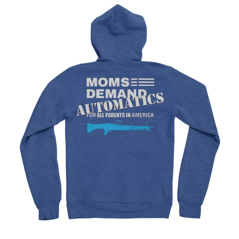 Moms Demand Automatics - White Logo, Blue LMG Men's Sponge Fleece Zip-Up Hoody by Rally For Our Rights Shop