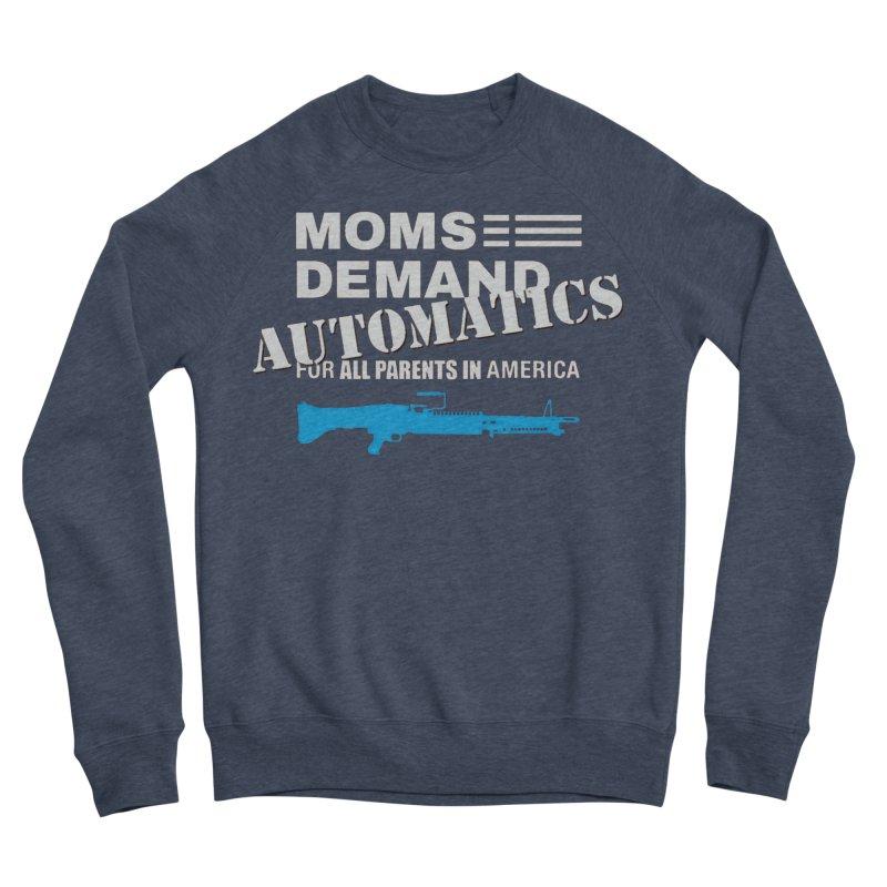 Moms Demand Automatics - White Logo, Blue LMG Women's Sponge Fleece Sweatshirt by Rally For Our Rights Shop