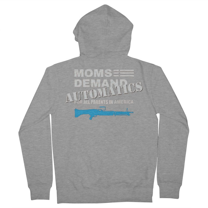 Moms Demand Automatics - White Logo, Blue LMG Men's French Terry Zip-Up Hoody by Rally For Our Rights Shop