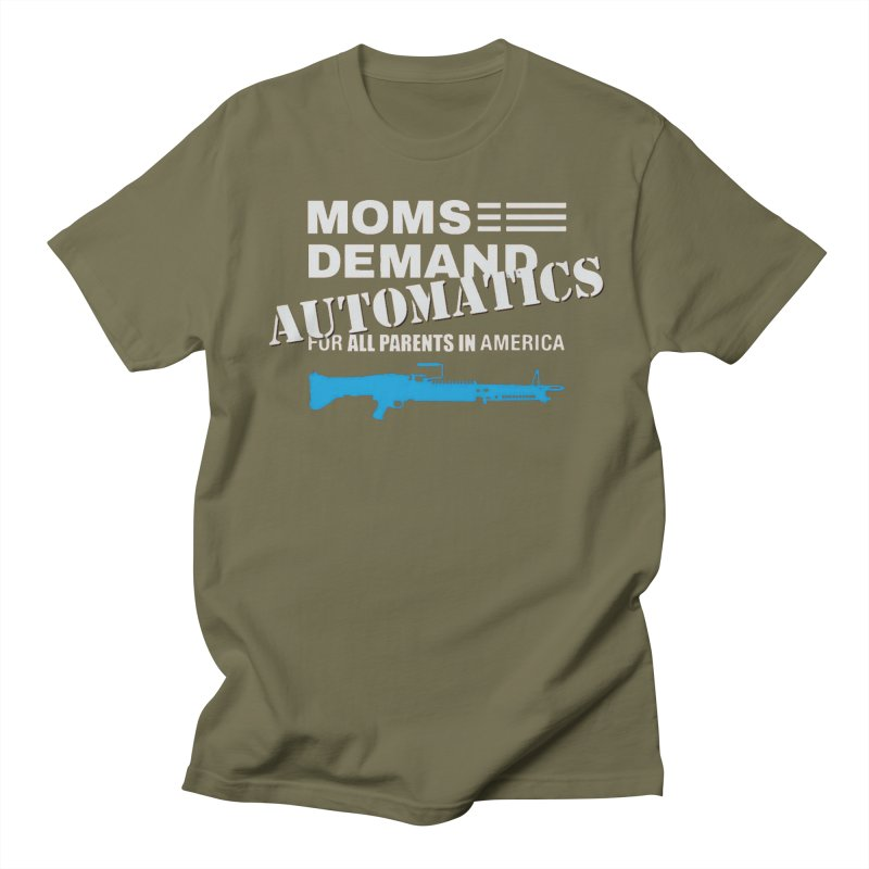Moms Demand Automatics - White Logo, Blue LMG Women's Regular Unisex T-Shirt by Rally For Our Rights Shop