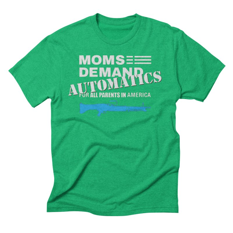 Moms Demand Automatics - White Logo, Blue LMG Men's Triblend T-Shirt by Rally For Our Rights Shop