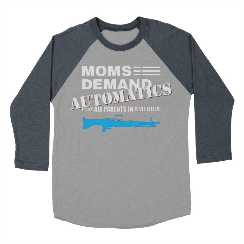 Moms Demand Automatics - White Logo, Blue LMG Women's Baseball Triblend Longsleeve T-Shirt by Rally For Our Rights Shop