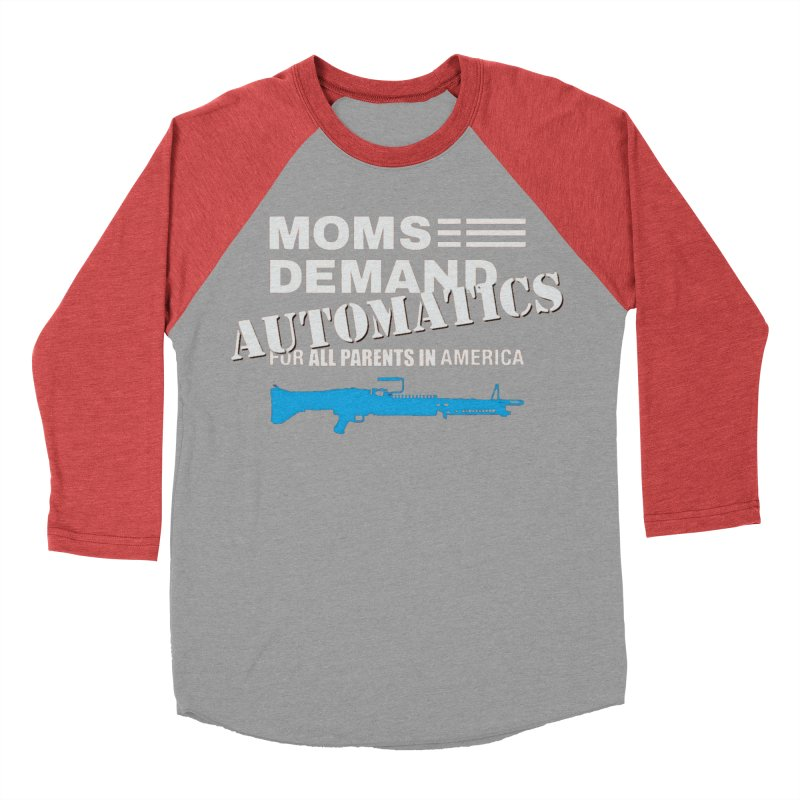 Moms Demand Automatics - White Logo, Blue LMG Men's Baseball Triblend Longsleeve T-Shirt by Rally For Our Rights Shop