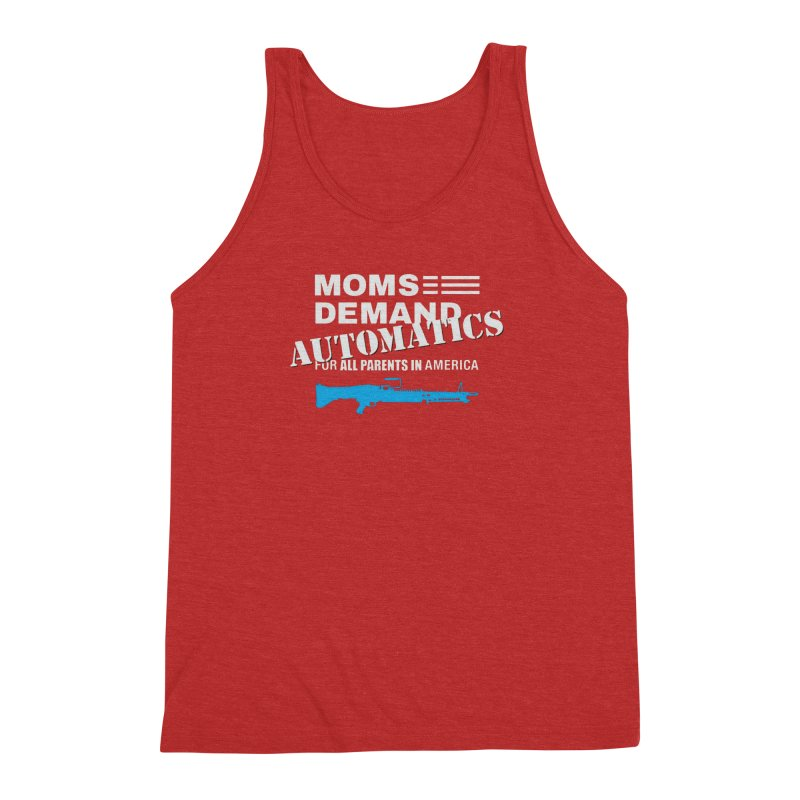 Moms Demand Automatics - White Logo, Blue LMG Men's Triblend Tank by Rally For Our Rights Shop