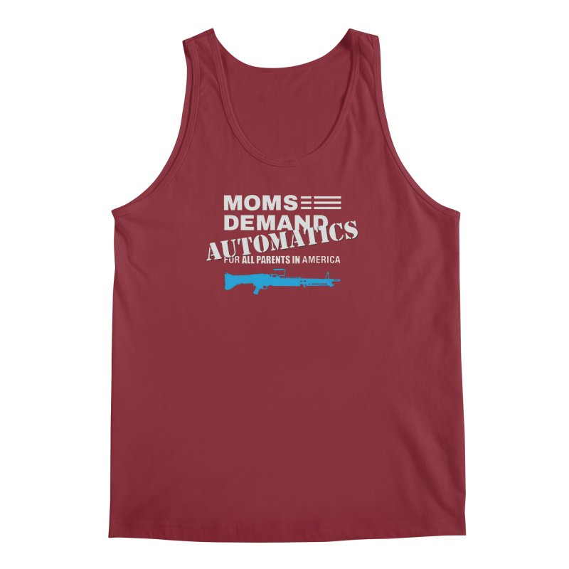 Moms Demand Automatics - White Logo, Blue LMG Men's Regular Tank by Rally For Our Rights Shop