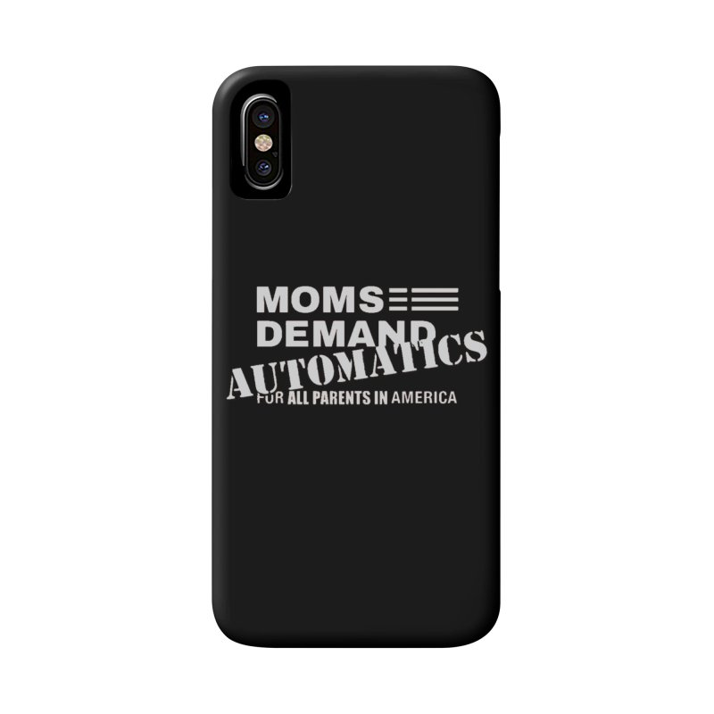 Moms Demand Automatics - Classic White Logo Accessories Phone Case by Rally For Our Rights Shop