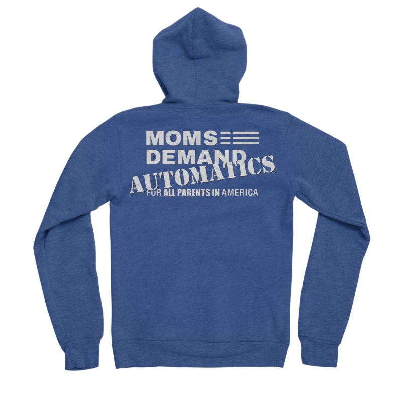Moms Demand Automatics - Classic White Logo Men's Sponge Fleece Zip-Up Hoody by Rally For Our Rights Shop