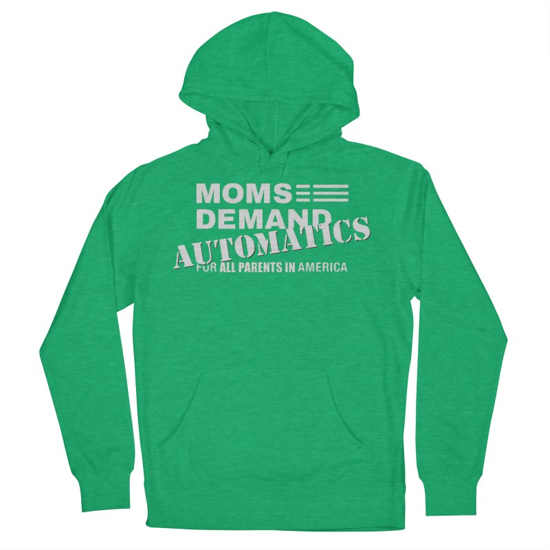 Moms Demand Automatics - Classic White Logo Men's French Terry Pullover Hoody by Rally For Our Rights Shop