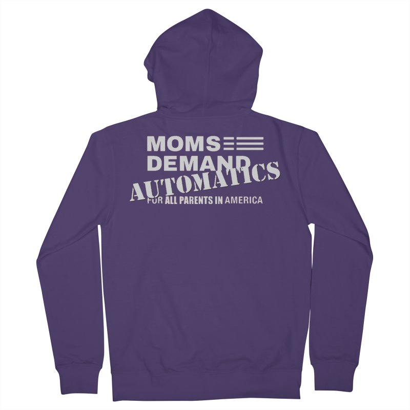 Moms Demand Automatics - Classic White Logo Women's French Terry Zip-Up Hoody by Rally For Our Rights Shop