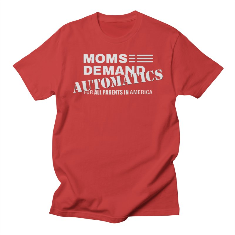 Moms Demand Automatics - Classic White Logo Men's Regular T-Shirt by Rally For Our Rights Shop