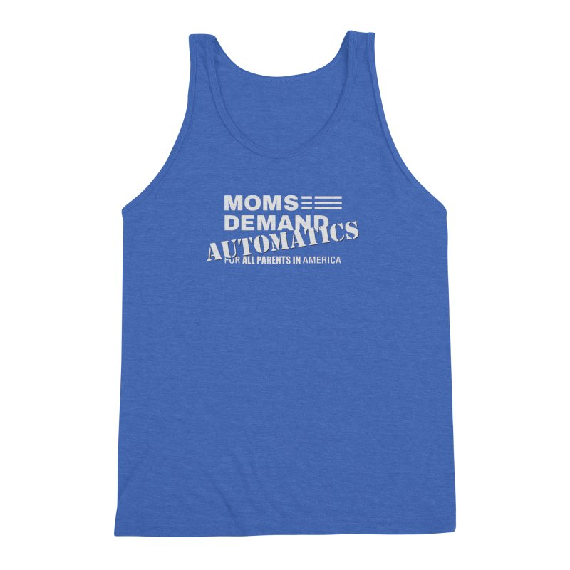 Moms Demand Automatics - Classic White Logo Men's Triblend Tank by Rally For Our Rights Shop
