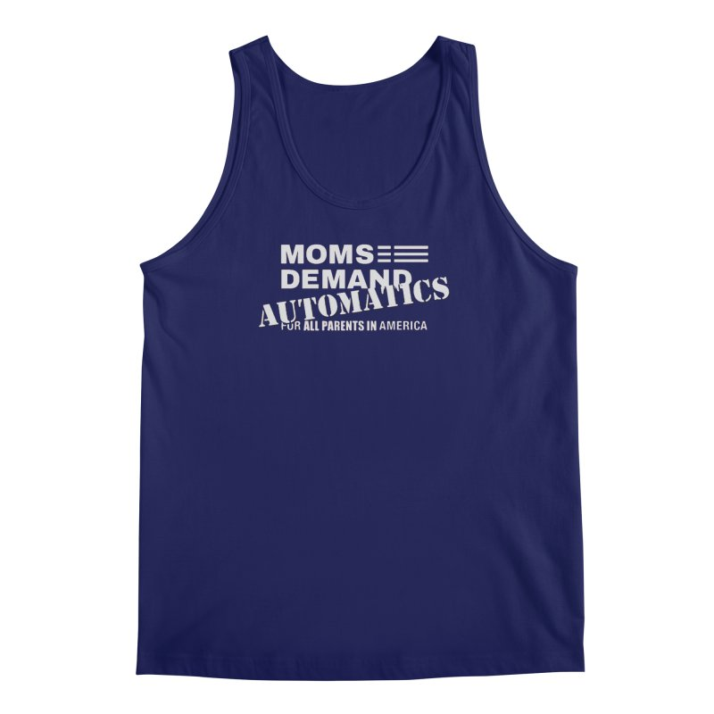 Moms Demand Automatics - Classic White Logo Men's Regular Tank by Rally For Our Rights Shop