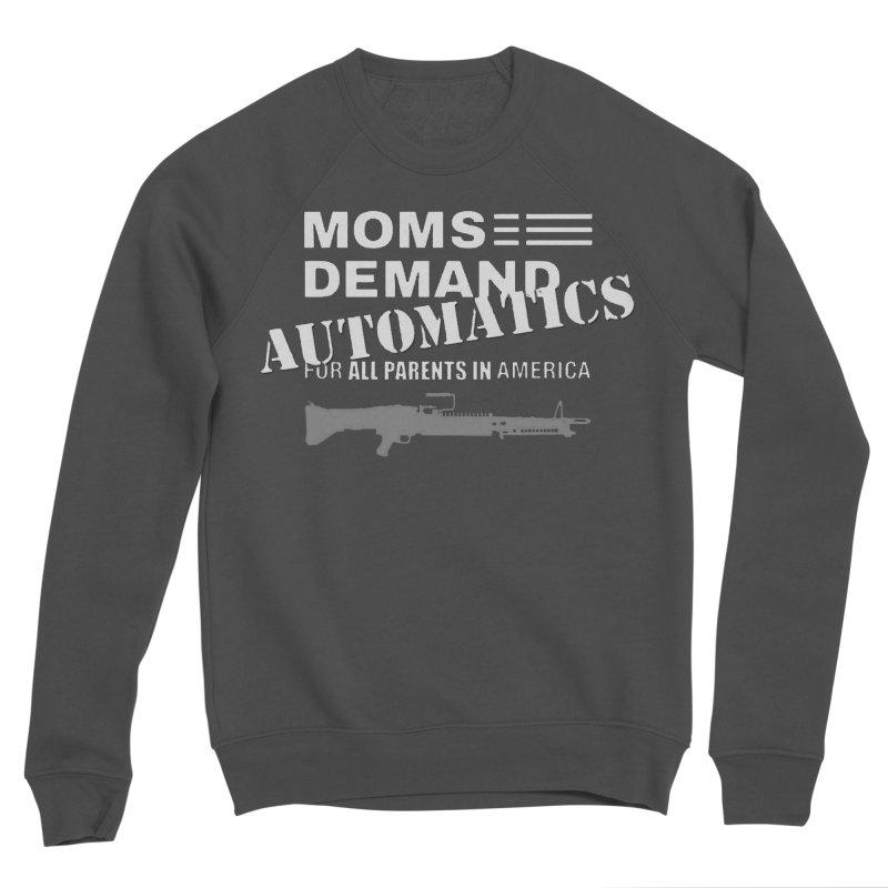 Moms Demand Automatics - White Logo, Gray LMG Men's Sponge Fleece Sweatshirt by Rally For Our Rights Shop